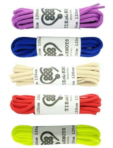 5 - 8  Eyelet Pairs Round Shoe Laces Various Colours