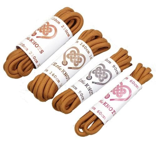 Shoe Laces Pair Brown Round Various Lengths All Sizes Lengths Shoe / Boot Laces