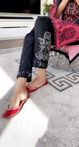 Lyla Cream or Black  Embroidered Trousers